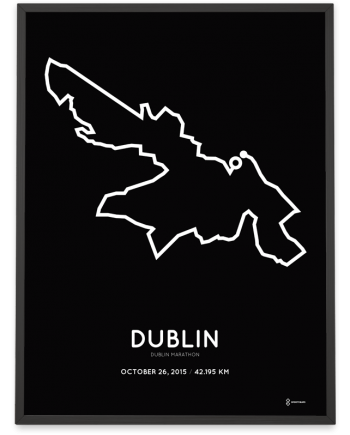 2015 Dublin marathon course poster