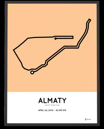 2016 Almaty marathon course print