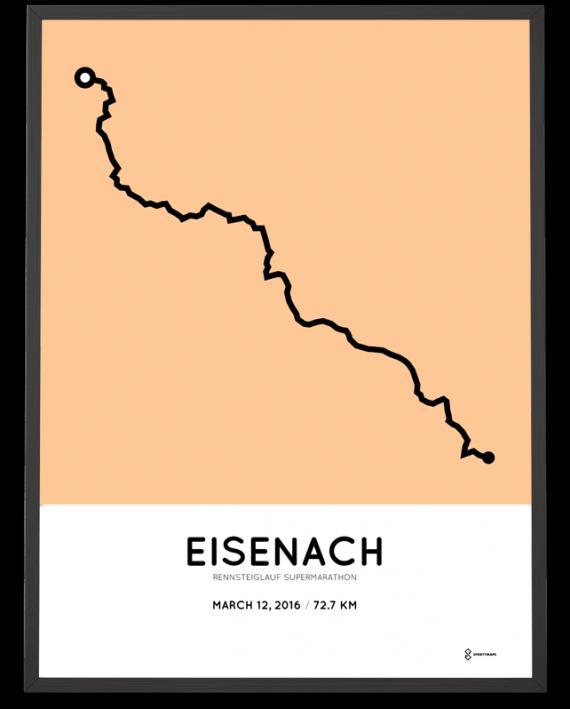 2016 Rennsteiglauf Supermarathon course poster