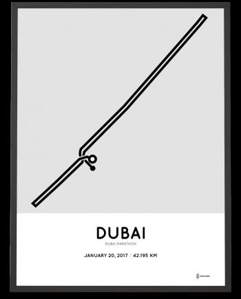 2017 Dubai marathon couse poster