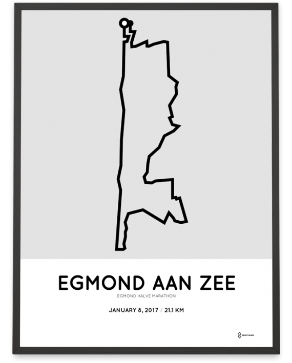 2017 Egmond halve marathon route poster