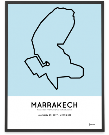 2017 Marrakech marathon course poster