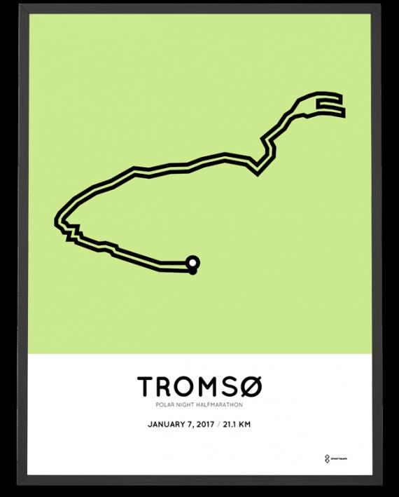 2017 Tromso half marathon course poster