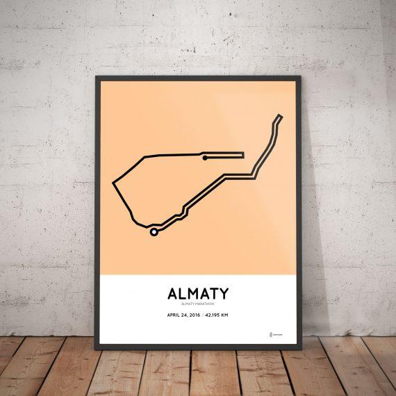2016 Almaty marathon course poster