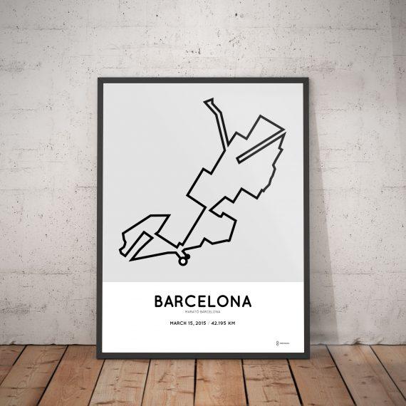 2015 Marato Barcelona course corer poster