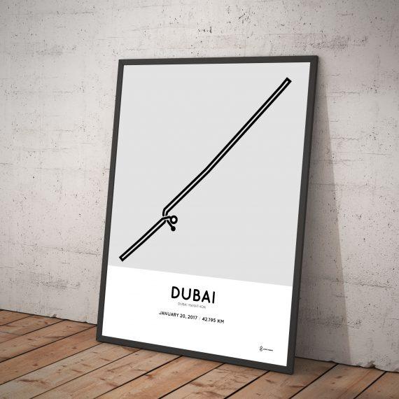2017 Dubai marathon course poster