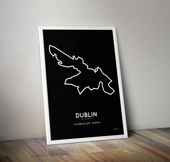 2015 Dublin marathon course posters