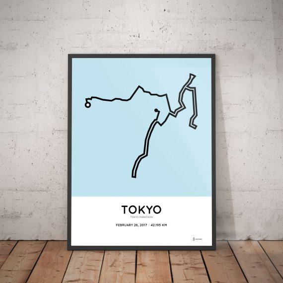 2017 Tokyo marathon course poster