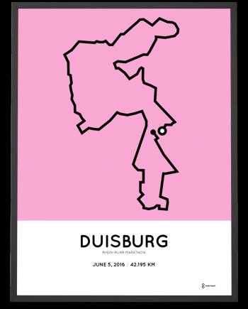 2016 Rhein-Ruhr-marathon Duisburg course poster