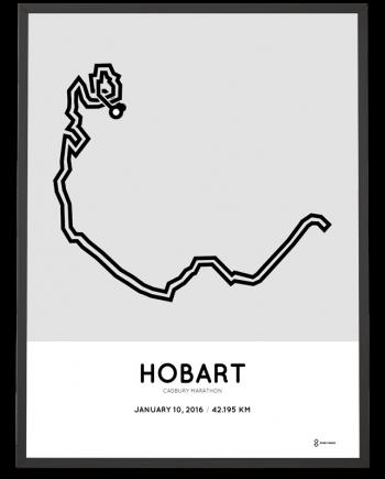 2016 Cadbury marathon course print