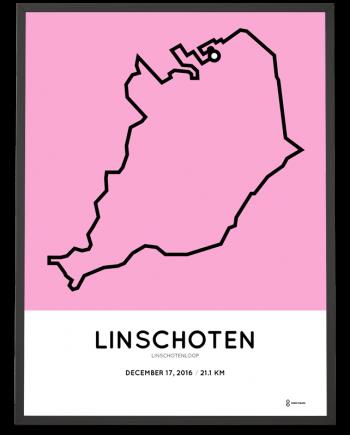2016 Linschotenloop halve marathon route poster