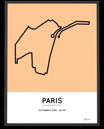 2016 Paris 20km coursemap print