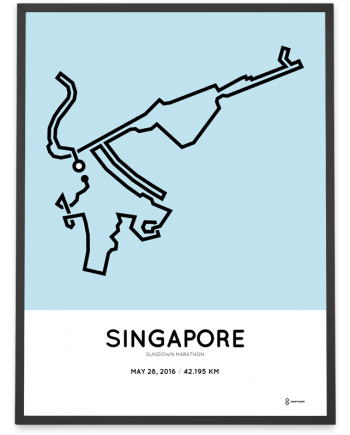 2016 Singapore Sundown marathon course poster