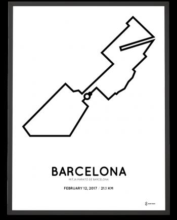 2017 Barcelona half marathon course poster