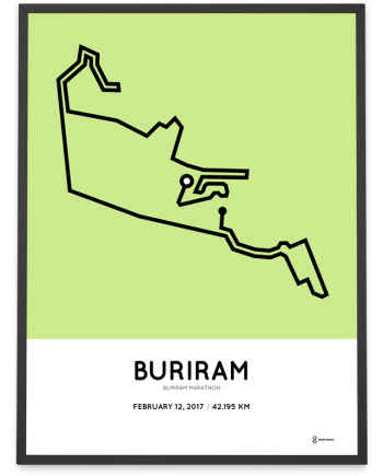2017 Buriram marathon route print