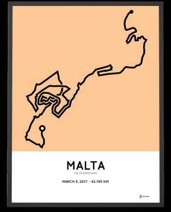 2017 Malta marathon route artprint