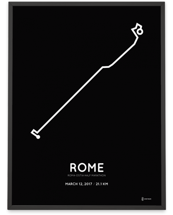 2017 Roma-Ostia half marathon course poster