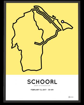 2017 Groet uit Schoorl run 30km route print