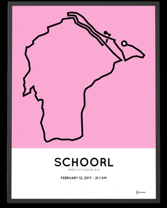 2017 Schoorl halve marathon route poster