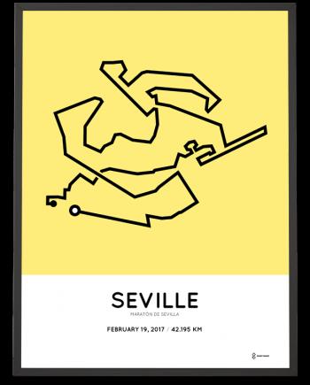 2017 Maraton de Sevilla course poster