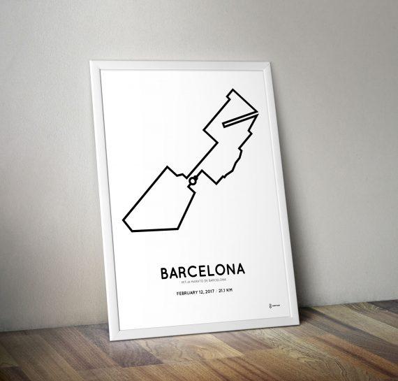 2017 Mitja marato de Barcelona course print