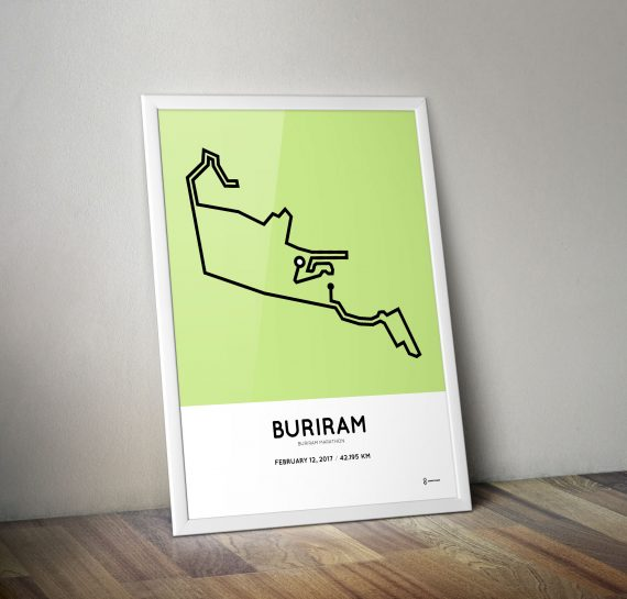 2017 Buriram marathon course poster