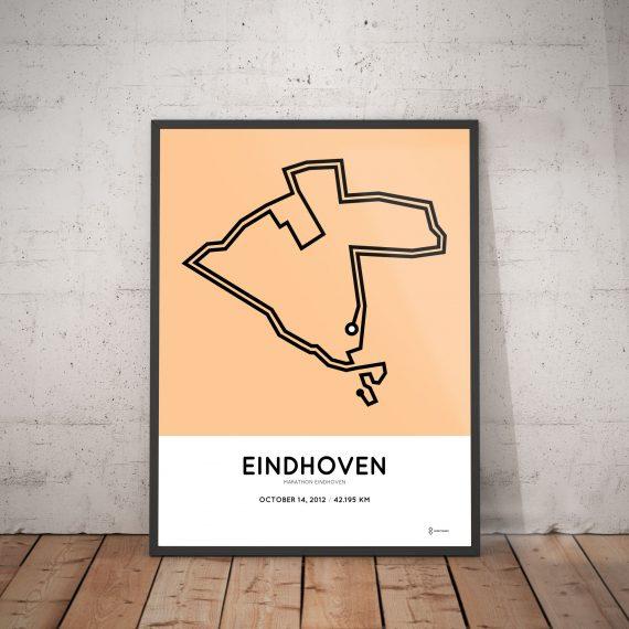 2012 marathon Eindhoven parcours print