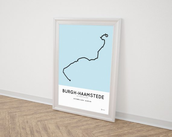2014 Kustmarathon zeeland course print