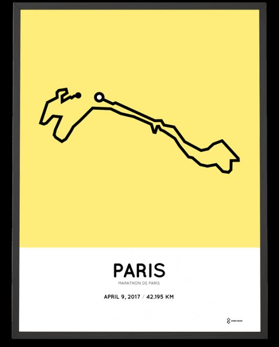 2017 Paris marathon parcours poster