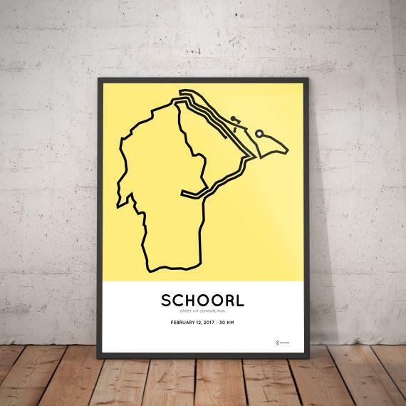 2017 Schoorl 30km parcours poster