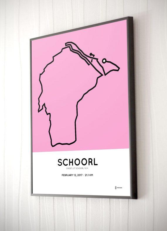 2017 Grout uit Schoorl halve marathon parcours poster