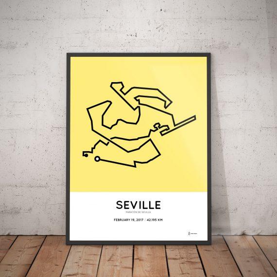 2017 Seville marathon course print