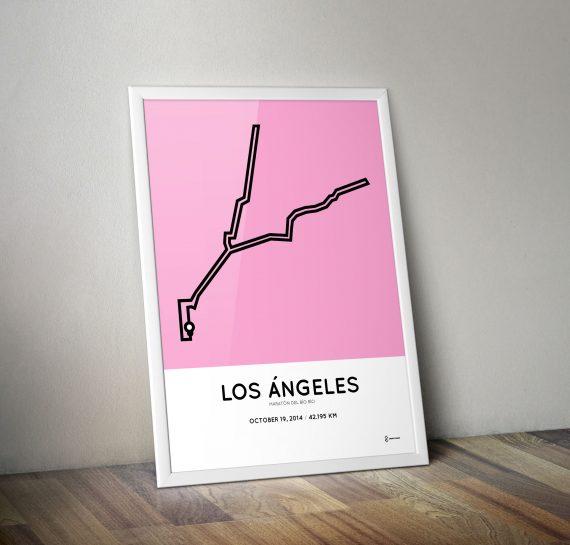 2014 Maraton del Bio Bio Los Angeles Chile course print