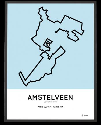 2017 Amstelveen marathon course print