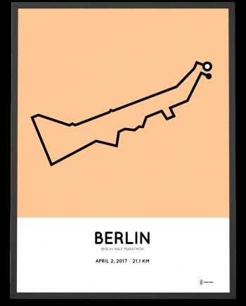 2017 Berlin half marahton course poster