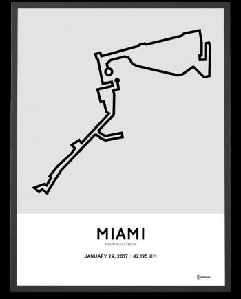 2017 Miami marathon course poster