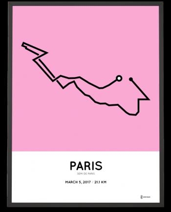2017 Paris half marathon course poster