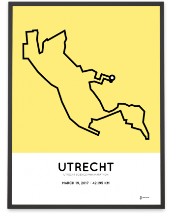 2017 Utrecht Science park marathon route poster