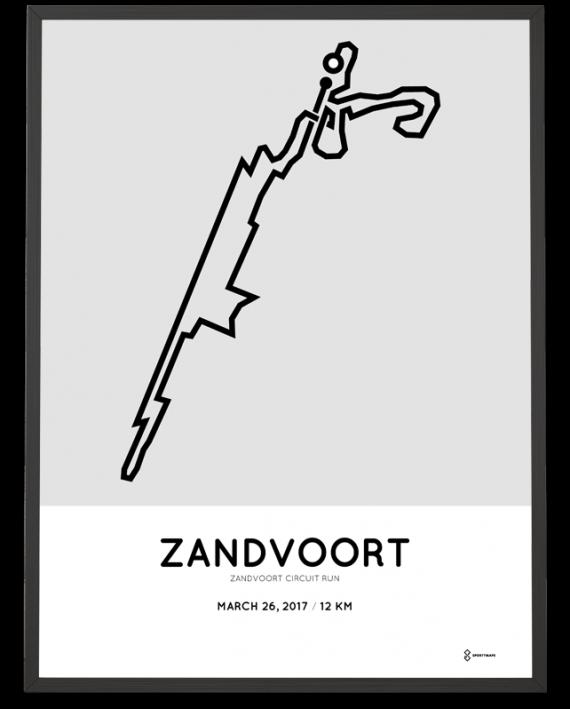 2017 Zandvoort circuit run 12km route poster