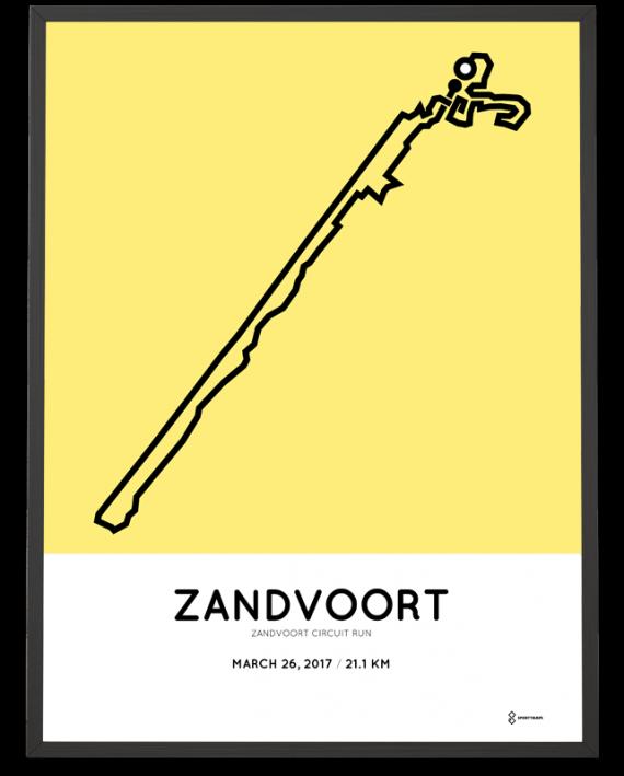 2017 Zandvoort circuit run halve marathon parcours poster
