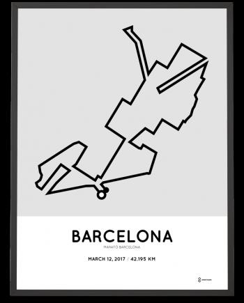 2017 marato Barcelona route poster