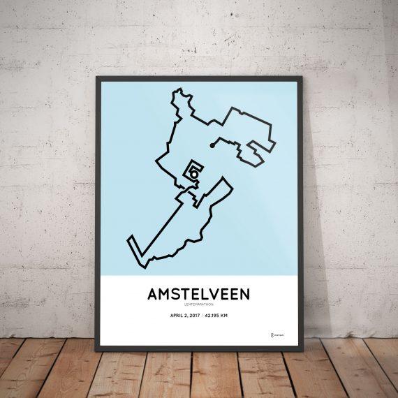2017 Lentemarathon Amstelveen course poster