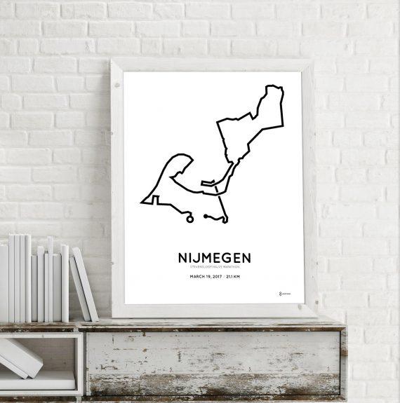 2017 Stevensloop Nijmegen route poster