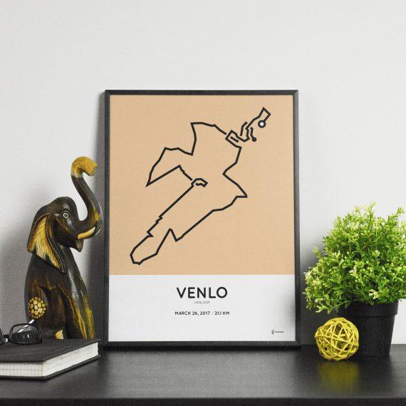2017 Venloop half marathon course print
