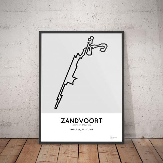 2017 Zandvoort circuit run 12km parcours poster
