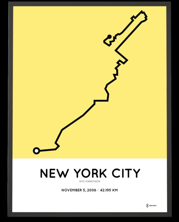 2006 New York City marathon course print
