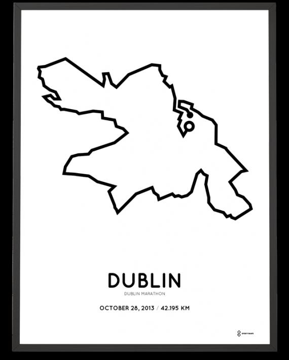 2013 Dublin marathon course print