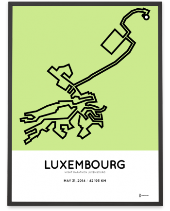 2014 Luxembourg night marathon course poster