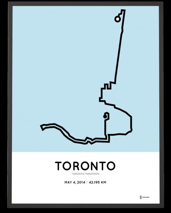 2014 Toronto marathon course artprint