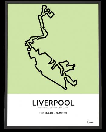 2016 Liverpool marathon course poster
